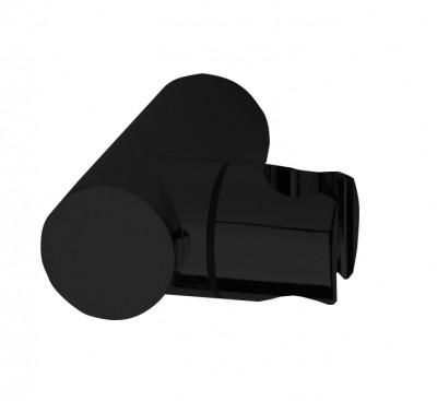 Waterevolution Flow verstelbare handdouchehouder mat zwart T1623PR