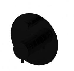 Zazzeri 2- weg Inbouwthermostaat met omsteller Mat zwart 1208760812