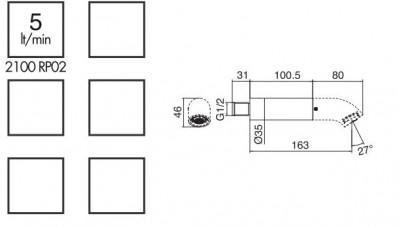 Zazzeri POP hoofddouche 163mm Chroom 1208774032
