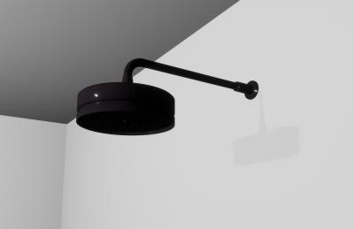 Zazzeri hoofddouche 200mm mat zwart regendouche Da-Da 4700SO03A003131