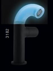 Zazzeri POP wastafelkraan met uitloop met afvoerplug mat zwart - blauw (glow in the dark) 1208856272