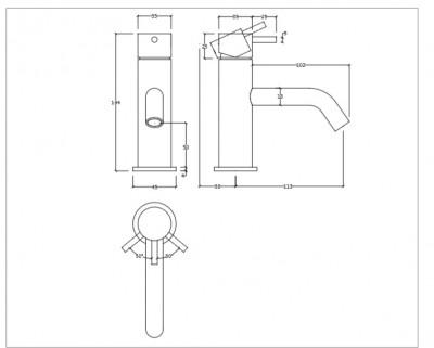 Waterevolution Flow fonteinkraan PVD geborsteld koper T1101ACPE